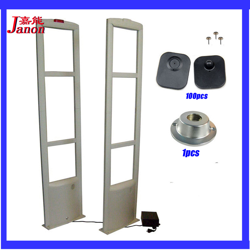 Dual 8.2Mhz  eas rf system eas security system for supermarket,security anti theft system security alarm system, hzsecurity electromagnetic system em library anti theft system one aisle