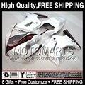 8Gift+ For SUZUKI Red white SV1000 S SV650 S 03 04 05 06 07 69JK80 Gloss white 08 09 10 11 12 13 SV1000S SV650S 03-13 Fairing