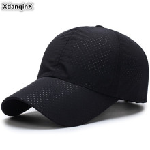 XdanqinX Adjustable Size Thin Baseball Caps For Men Women Summer Mens Breathable Tongue Cap Sunscreen Womens Snapback NEW