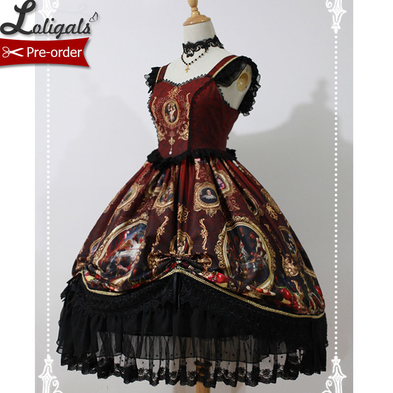 The Magic Night of Museum Printed Lolita Jumper Dress by Soufflesong 5 Colors