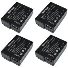 4 Шт. DMW-BLC12 DMWBLC12 DMW BLC12 Батареи для Panasonic BLC12 DMW-BLC12E DMW-BLC12PP DMC-G5 FZ200 FZ1000 DMC-G6 V-LUX4 GH2 G5 G6