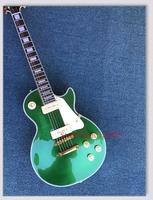 Best Sellng Free Shipping Custom Green Gold Electric Guitar P90 Pick Up Standard Guitar