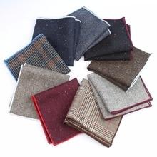 Pocket Square Handkerchief Wool Man Wedding Formal Mens Clothing Geometric-Dot Cotton