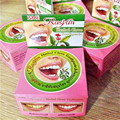 5g Tailândia Dentifrício creme dental clareamento dos dentes plaque remover manchas de fumaça chá preto amarelo para a halitose Produtos Odontológicos