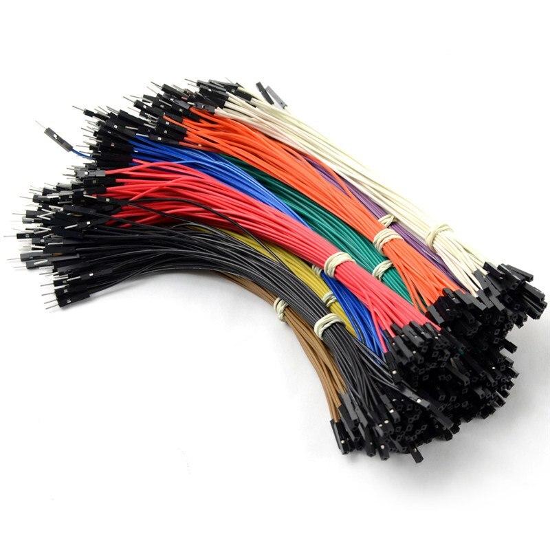 40 шт 2,54 мм 20 см двухголовый Женский к мужскому Dupont провод для Arduino соединительный кабель случайный цвет