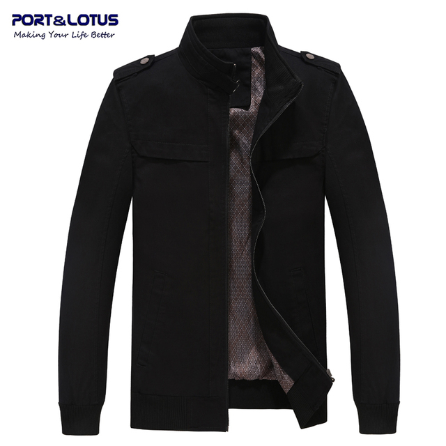 Port&Lotus Bomber Jacket Stand Collar Solid Color Patchwork Fashion Casual Jackets 205(7715) Wholesale