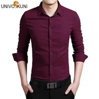 S 4XL Men Shirt 2016 Spring New Fashion Cotton Shirts Brand Casual Long Sleeve Slim Fit
