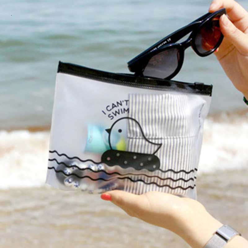YIYOHI WomenCosmetic Bags Travel Organizer Necessary Beauty Case PVC Toiletry Bags Makeup Bag Bath Wash Make Up Box Pencil Bag