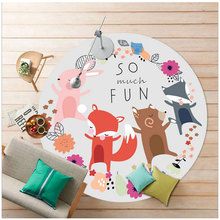 80cm/90cm/100cm Soft Round Cartoon Carpets for Living Room Computer Chair Mat Rugs and Carpets Baby Kids Carpet