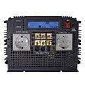 Pantalla LCD más avanzada 3500 W inversor de onda sinusoidal pura 12VDC a 220VAC (pico de 7000 W) inversor de frecuencia para el hogar al aire libre de CC a CA