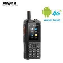 BiNFUL 7S + Zello اسلكية تخاطب الهاتف المحمول IP65 مقاوم للماء الهاتف الذكي MTK6737M رباعية النواة 4G LTE أندرويد لوحة المفاتيح PTT F40 راديو