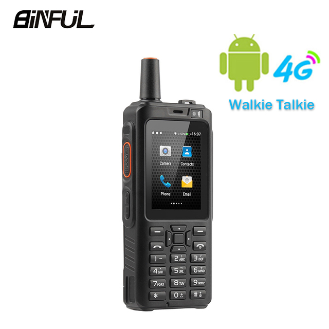 BiNFUL 7S+ Zello Walkie Talkie Mobile Phone IP65 Waterproof Smartphone MTK6737M Quad Core 4G LTE Android Keyboard PTT F40 Radio