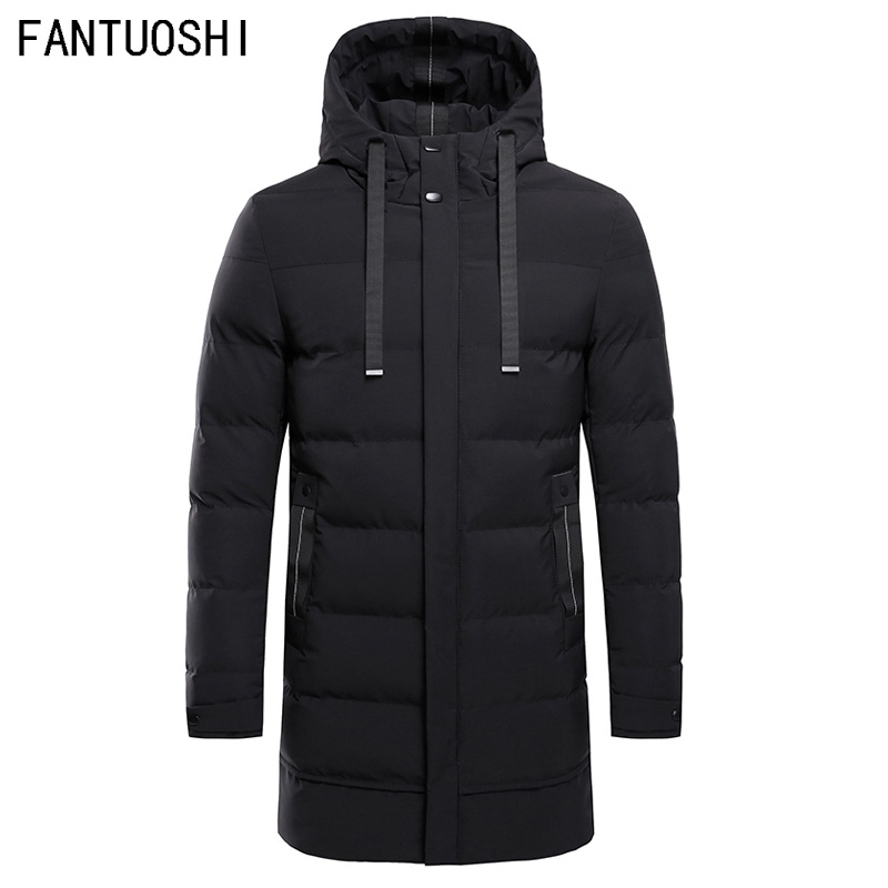 High Quality Parka Men Winter Long Jacket Men Hooded Thick Cotton-Padded Jacket Mens Parka Coat Male Fashion Casual Coats 4XL