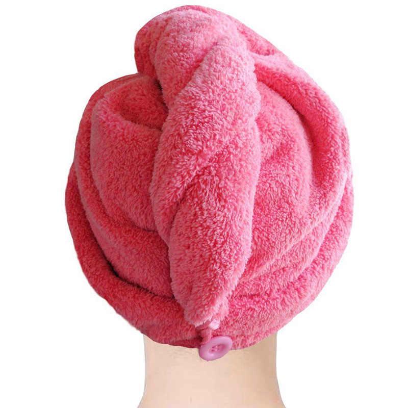 2019 عالية الجودة ستوكات منشفة استحمام الشعر الجاف التجفيف السريع سيدة منشفة استحمام لينة دش قبعة قبعة لسيدة رجل