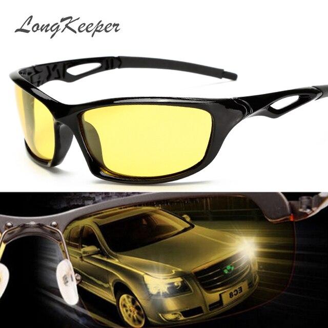 Longkeeper Malam Visi Kacamata untuk Lampu Terpolarisasi Mengemudi Kacamata  Hitam Kuning Lensa UV400 Perlindungan Malam Kacamata 5f18eaf9a3