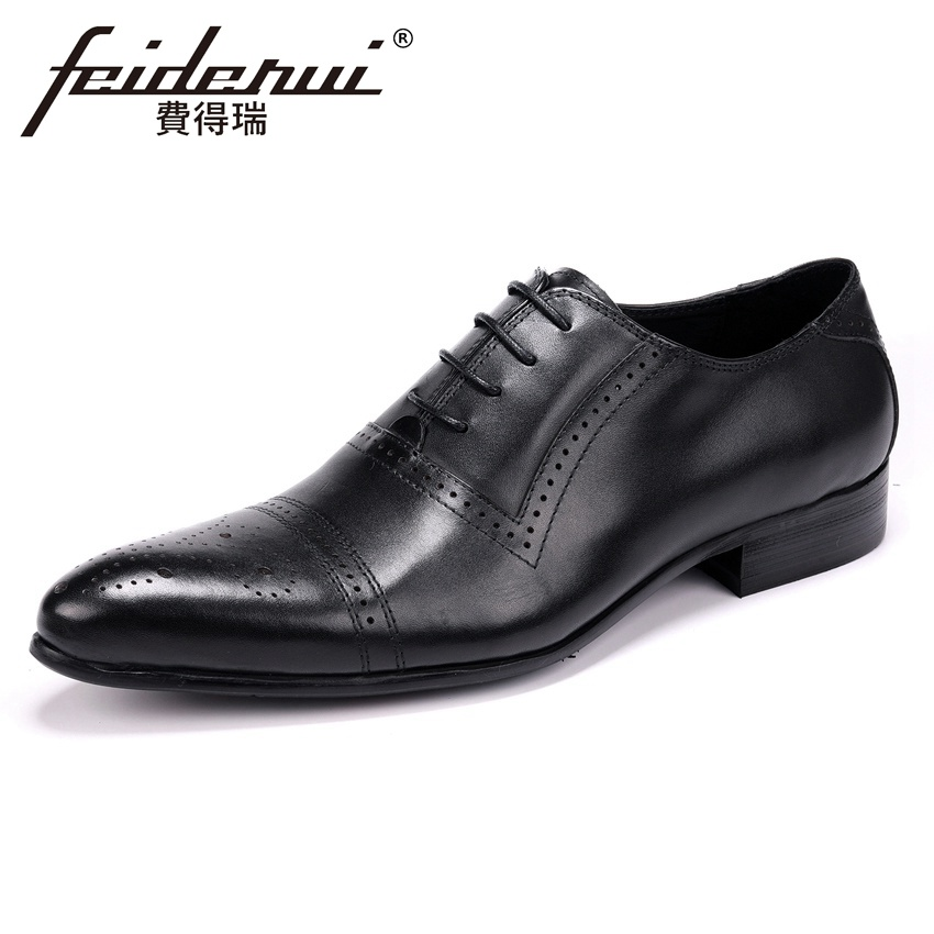 Summer Luxury Handmade Mens Formal Dress Prom Oxfords Genuine Leather Pointed Toe Semi Brogue Man Wedding Party Shoes YMX594Summer Luxury Handmade Mens Formal Dress Prom Oxfords Genuine Leather Pointed Toe Semi Brogue Man Wedding Party Shoes YMX594