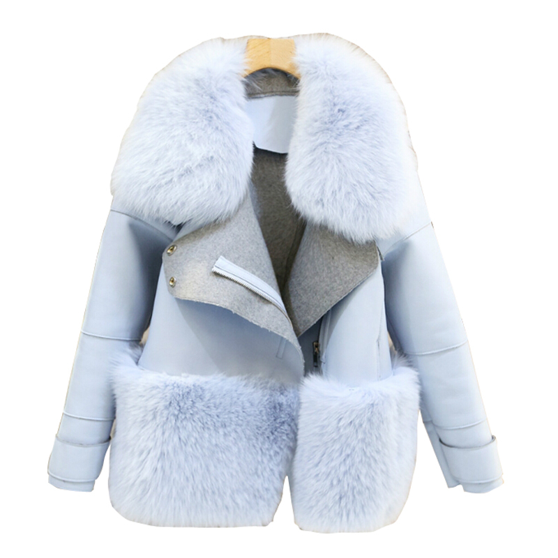 New Design 2016 Fashion Winter Women Fur Coat Woman Faux Fur Mujer Female Patchwork Short Winter Jacket Women Faux Fur Coat winter jacket coat women 2017 new brand solid casual faux fur collar zipper female jacket hot sale coat female gd280