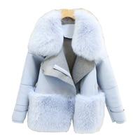 New Design 2016 Fashion Winter Women Fur Coat Woman Faux Fur Mujer Female Patchwork Short Winter Jacket Women Faux Fur Coat