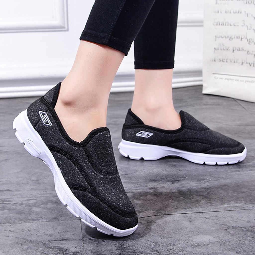 Frauen Laufschuhe Mesh Atmungsaktive Schuhe Casual Slip Auf Komfortable Sohlen Outdoor Sport Schuhe zapatos deportivos de mujer # g4
