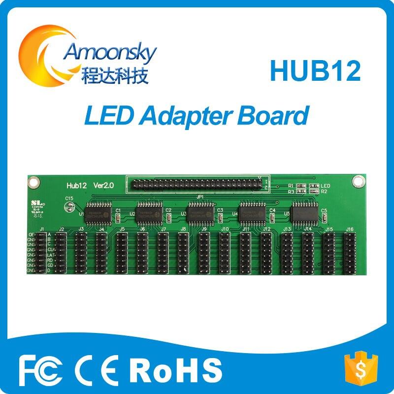 Hub12A Led Control Card Conversion Adapter Support Linsn Novastar Colorligt Mooncell Huidu More Led Control