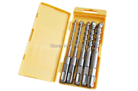Free Shipping Alloy Drill Bit Power Tools Set Square Shank Electric Hammer Drill Bit Set