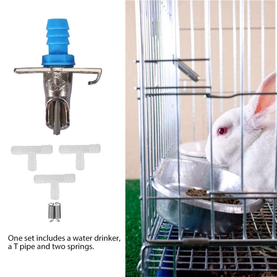100Pcs Automatic Water Feeder Drinker Waterer For Rabbit Bunny With Blue Color