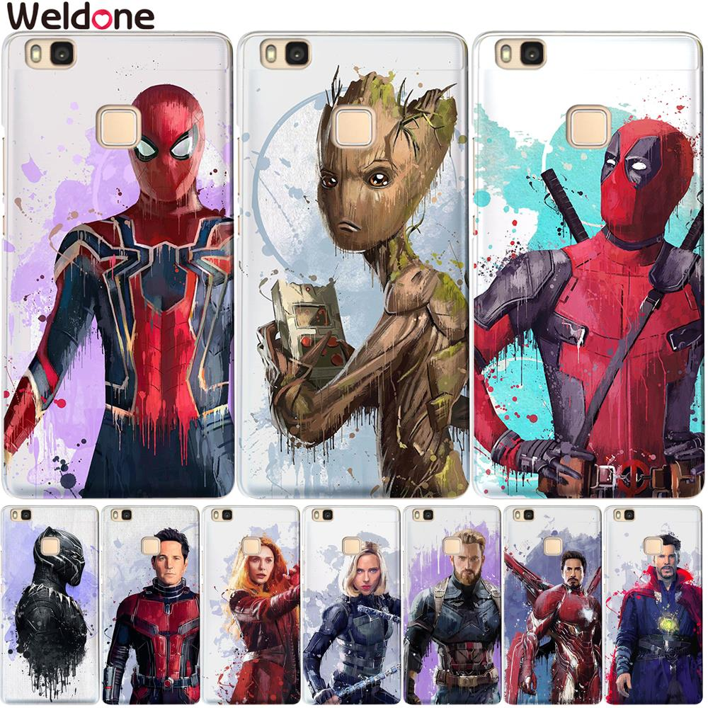Marvel Avengers Cases For Huawei P20 Lite Pro P10 Plus P8 P9 Lite 2017 honor 9 6A 6X ironMan