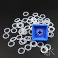 100pcs Silent Ring Rubber Band Noise Reduction Shock Absorbing Silicone ring for Keycap Mechanical Gaming Keyboard