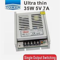 35 W 5 V 7A Ultra mince Unique Sortie de Commutation alimentation pour LED Bande de lumière 170 V ~ 260 V Entrée
