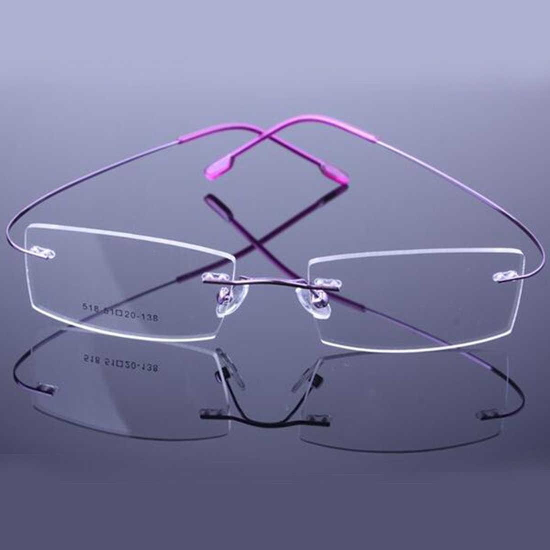 3aea083dd5 ... Fahion Retail 9 Colors Lightweight Rimless Glasses Frames Memory  Titanium Eyeglasses Spectacle Prescription Optical Frames 2018 ...