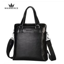 MANBERCE Brand Handbag Men Shoulder Bags Genuine Leather Men's Briefcase Cowhide Business Casual Messenger Bag Free Shipping