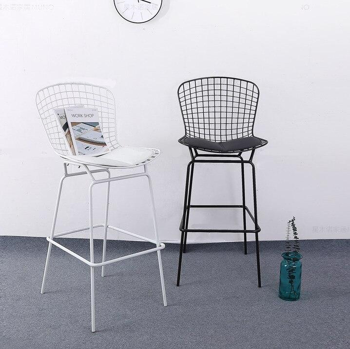 Marvelous Us 320 0 Bar Set Seat Height 64Cm Modern Design Chromed Black Bertoia Bar Stool Barstool Bar Chair Metal Wire Loft Counter Stool 2Pcs Set In Bar Ocoug Best Dining Table And Chair Ideas Images Ocougorg