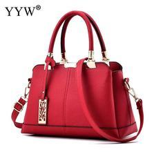 449ebe0b7b57 New 2018 Large Capacity Women Handbag Totes Shoulder Bag Solid Pu Leather  Ladies Top Handle Hand