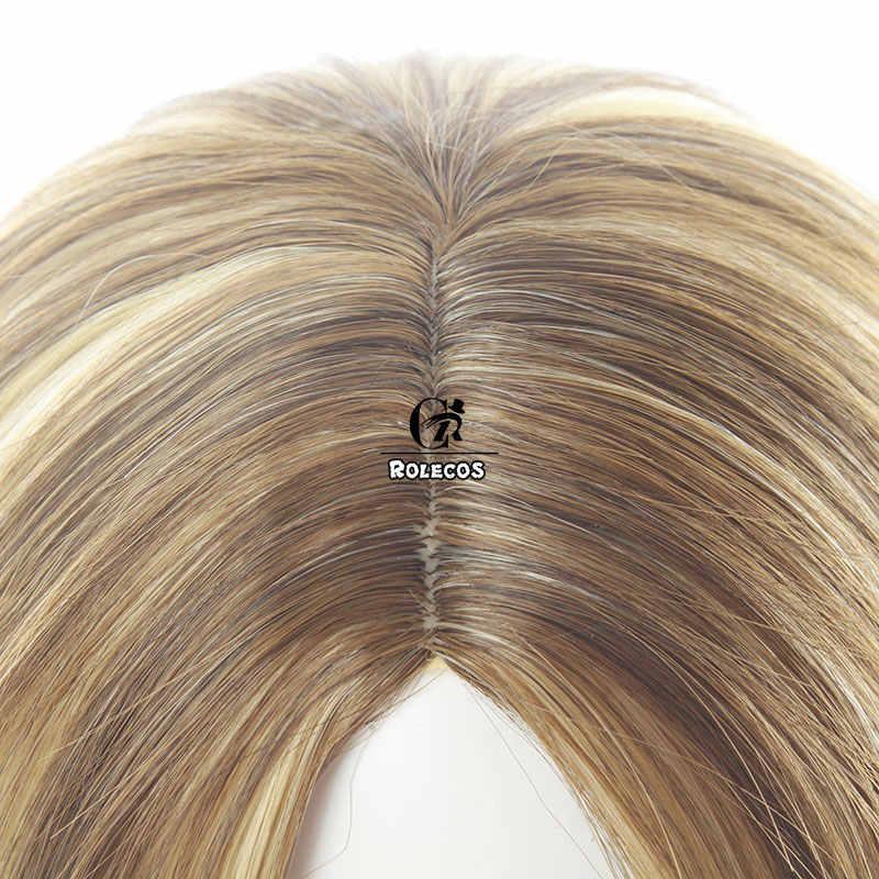 ROLECOS Oyun LOL KDA Prestige Edition Ahri Cosplay Saç LOL K/DA Ahri Cosplay Saç Şapkalar 30 cm Sentetik kısa Saç Kadınlar için