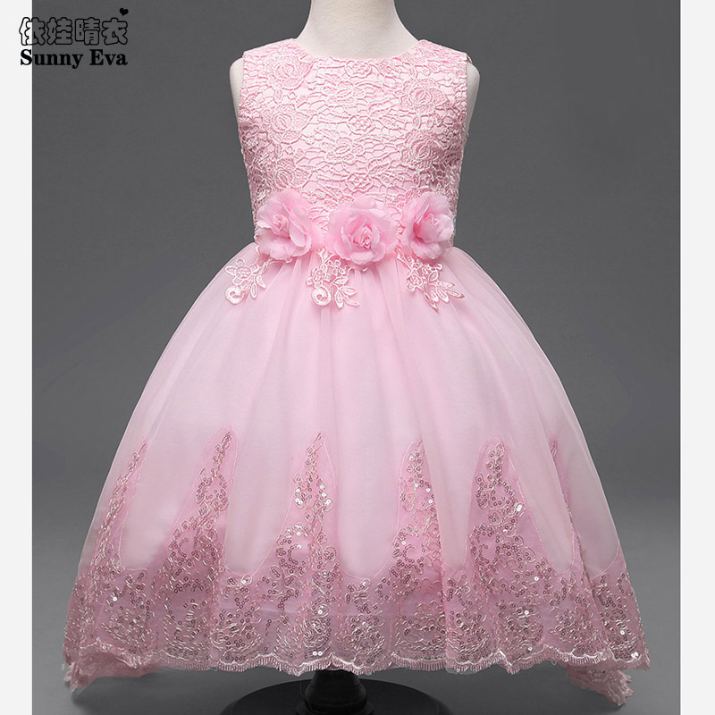 Sunny eva party girl dress children costume princess lace dresses for little girls sequin dress Children clothes up for girls children clothes little girls lace