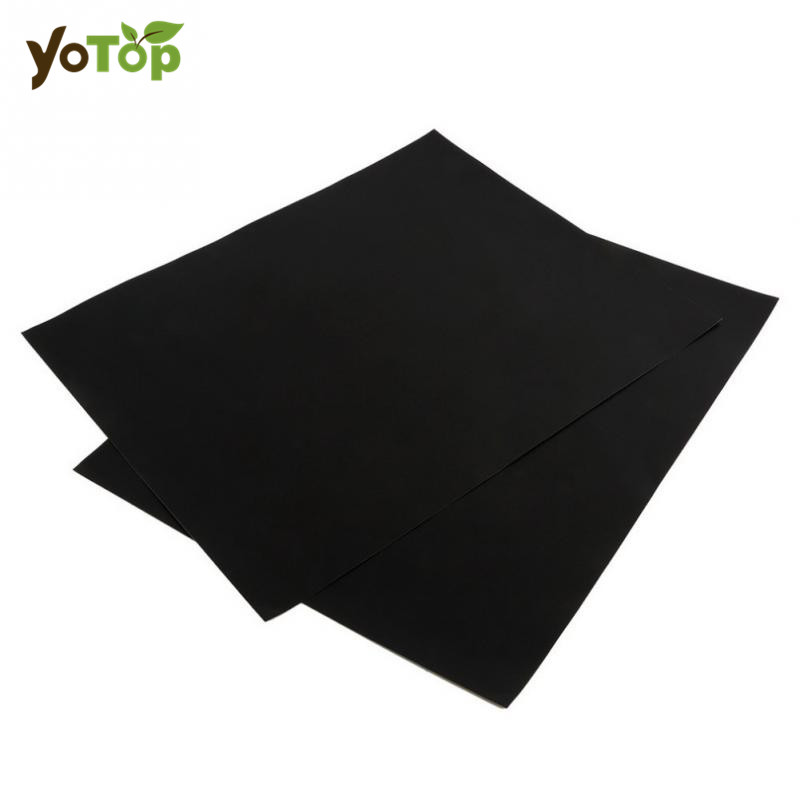 YOTOP 2Pcs Black/Gold BBQ Grill Mat For Barbecue Grill Sheet Cooking And Baking Microwave Reusable Outdoor Picnic Cooking Tools