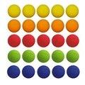 50 pçs/lote compatível brinquedo bala arma bolas rodadas para rivalizar com zeus nerf recarga de apollo 5 cores para escolher