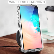 Hot Clear 3 in 1 Case for Samsung Galaxy S10 Lite Transparent Hard Cover PC Silicone Bumper Shockproof S10e 360