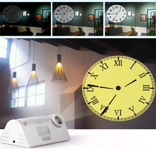 Hot Sale Circular Projection Modern Wall Clock Rome Arabia Digital Needle with Backlight Luminova Mechanical Plastic