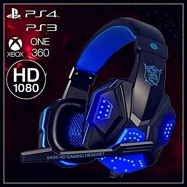 Latest Version Surround Stereo Gaming Headset Wired USB 3 5mm LED With Mic for PC Laptops