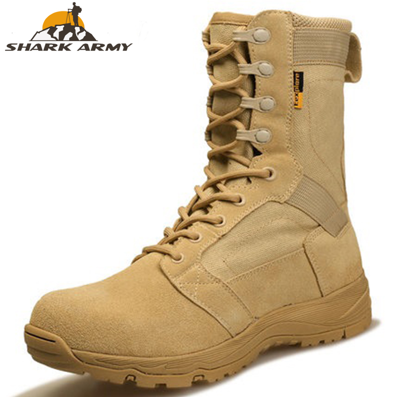 2019 Outdoor Hiking Shoes Men's Desert High-top Military Tactical Boots Men Combat Army Boots Militares Sapatos Masculino