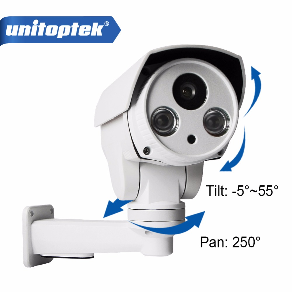 H.264 PTZ IP Bullet Camera 720P 1.0MP Fixed Lens Pan Tilt Rotation Outdoor NightVision IR 30M With POE And Card Slot Onvif P2P 5mp ip bullet camera h 264 h 265 compression 3 6mm fixed hd lens support poe p2p onvif