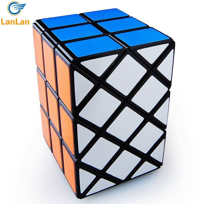 Strange shape Magic Cube 3x3x3 Magic Cube Professional Speed Puzzle Cubes Cubo Magico Double Fish Cube