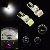 10PCS X 12V DC Mini Wedge Bulbs Instrument Gauge T5 Courtesy Light Bulb Pink Purple Replacement