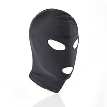 Soft Blindfold Hood Mask,Open Mouth Mask, Gag, Bondage, Fetish, BDSM, Role Play, Unisex Adult Cosplay Sex Toys for Couples Woman цены