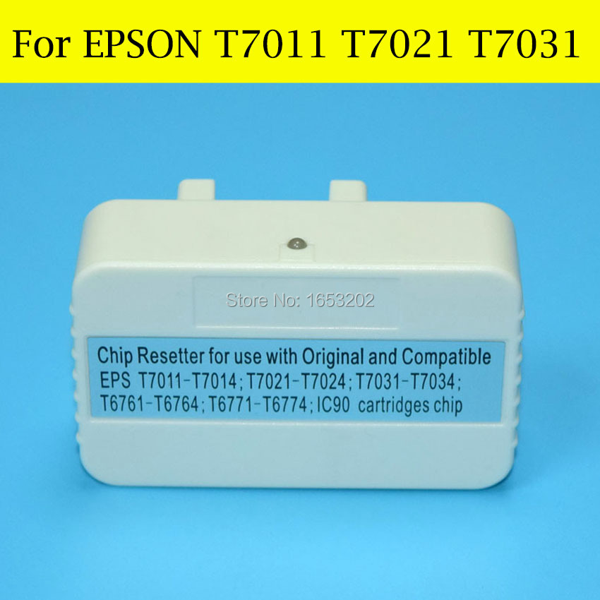 цены  1 PC Chip Resetter For Epson T7011 T7021 T7031 For EPSON WorkForce Pro WP-4015DN WP-4025DN WP-4095DN WP-4525DNF Printer