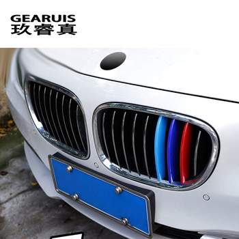 Car Styling Front Bumper Grills Grille Lower Mesh Trim Cover Sticker For BMW 7 Series F01 F02 740Li 730Li auto Accessories image