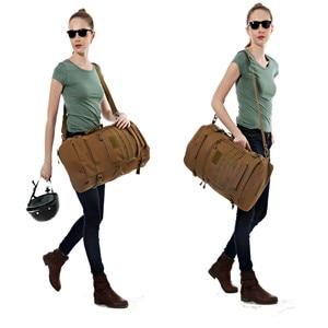 Image 5 - Men Travel Backpack 50L Laptop Backpack Large Capacity Teenager Male Mochila Waterproof Nylon Military Rucksack