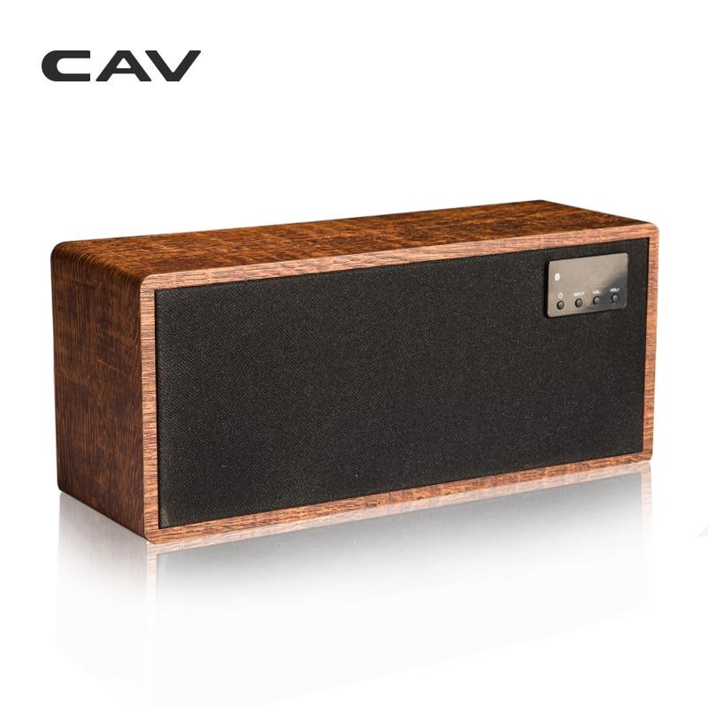 """CAV AT60 Bluetooth Динамик 2,1 канала деревянные AUX оптический коаксиальный USB Вход портативные колонки глубокие басы 5,25 """"НЧ-динамик 4 режимов эквалайзера"""