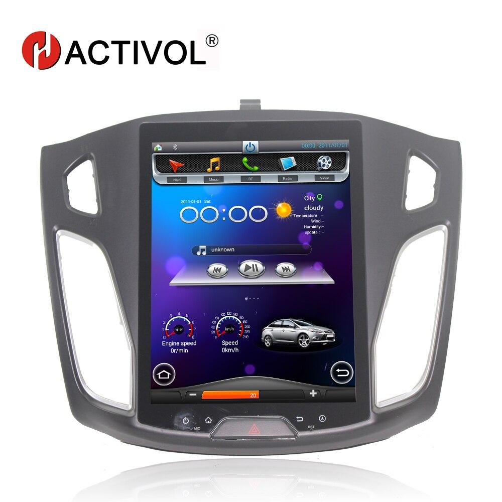 Hactivol Вертикальная 10,4 автомобильный радиоприемник gps навигация для Ford Focus 2012 2015 android 4,4 dvd плеер автомобиля с 1 г Оперативная память 32 г Встроен